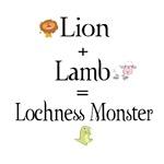 Lion Plus Lamb Equals Lochness Monster!