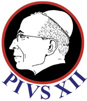 Pius XII with his Coat of Arms on the Back!