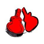 red guitar case