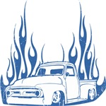 Flamed 56 Pickup Truck