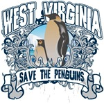 Save the Penguin West Virginia T-Shirts and Gifts