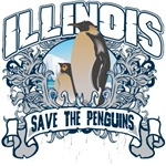 Save the Penguins Illinois T-Shirts and Gifts
