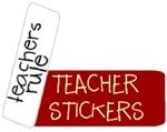 Teacher and School Themed Stickers