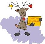 Seasons Greetings Reindeer