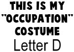 My Profession Costume: Letter D