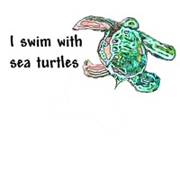 I Swim with Sea Turtles Men's & Women's T-Shirts