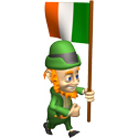 Cute 3D Ireland Flag