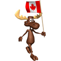 3D Moose With Canada Flag