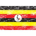 Vintage Uganda Flag