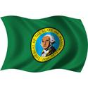 Wavy Washington Flag