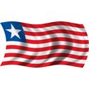 Wavy Liberia Flag