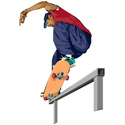 Skateboarding Stunt