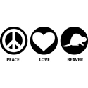 Peace Love Beaver