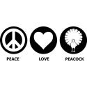 Peace Love Peacock