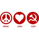 Peace Love CCCP T-shirt