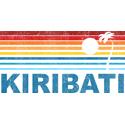 Retro Kiribati Palm Tree