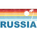 Retro Palm Tree Russia