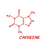 2D Caffeine Molecules