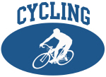 Cycling (blue circle)