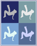 Breakdancing (blue boxes)