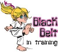 Black Belt in Training - Blonde Girl