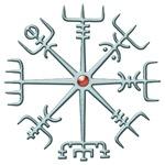 Silver Viking Compass