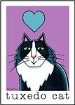 I HEART FLUFFY TUXEDO CATS
