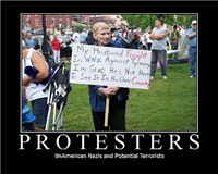 WWII Vet Widow Protester