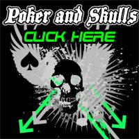 Poker and Skulls T-shirts