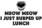 MEOW, MEOW I JUST BURPED UP LUNCH.