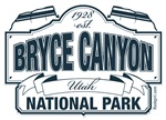 Bryce Canyon National Park Blue Sign