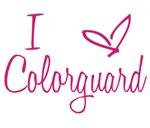 I Love Colorguard - Pink