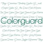 Green Colorguard Script