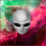 Alien Stare with Nebula by Marc Brinkerhoff