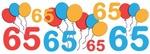 Colorful Festive 65th Birthday