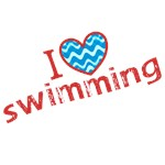 I heart (love) swimming Tees and Gifts