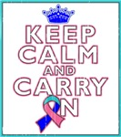Thyroid Cancer Keep Calm Carry On Shirts