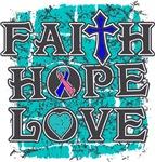 Thyroid Cancer Faith Hope Love Shirts