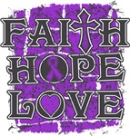 Pancreatic Cancer Faith Hope Love Shirts