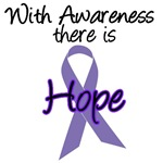 Hope Purple Ribbon Cancer T-Shirts & Gifts