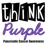 Think Purple For Pancreatic Cancer T-Shirts