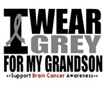 I Wear Grey (Grandson) Brain Cancer Shirts & Gifts