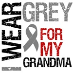 I Wear Grey (Grandma) Brain Cancer T-Shirts
