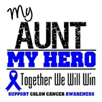 Colon Cancer Hero Aunt Shirts & Gifts