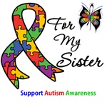 Autism Support Sister Shirts & Gifts