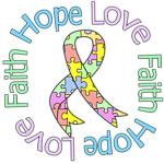 Hope Love Faith Pastel Autism Shirts & Gifts