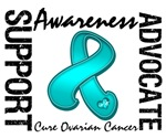 Support Awareness Advocate Ovarian Cancer Shirts