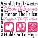 Stand Up Celebrate Honor Breast Cancer Shirts