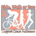 Uterine Cancer Ride Walk Run Shirts & Gifts