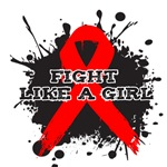 AIDS Fight Like A Girl Grunge